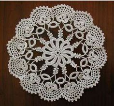 Three Irish Crochet Style Lace Doilies Natural Color Doilies