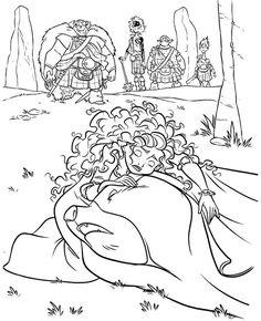 Princess Merida And Queen Elinor Coloring Page