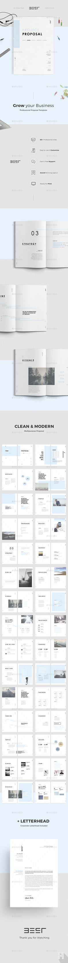 Proposal — Photoshop PSD #brochure #estimate • Download ➝ https://graphicriver.net/item/proposal/19531886?ref=pxcr