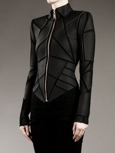 "takealefthere: "" edge-to-edge: "" Gareth Pugh Geometric Panelled Jacket. "" Would wear the shit out of this on a day-to-day basis. """