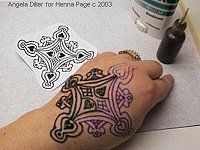 The Henna Page - How to make Henna Pattern Transfers