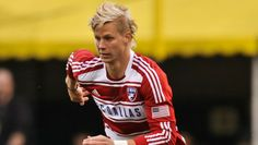 Brek Shea | FC Dallas American Football Players, Good Soccer Players, Michelle Akers, Soccer Drawing, New York Cosmos, Atlanta United Fc, Columbus Crew, Fc Dallas, Most Played