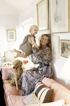 India Hicks all grown up with her daughter at her home in the Bahamas.  She is a second cousin to Prince Charles and was a bridesmaid for Princess Diana.  Her maternal grandfather was Earl Mountbatten of Burma.
