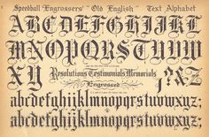 Speedball Engrosser, Old English Text Alphabet....the basis of 99.9% of all my drawings....ddnt think anyone else had this exact alphabet