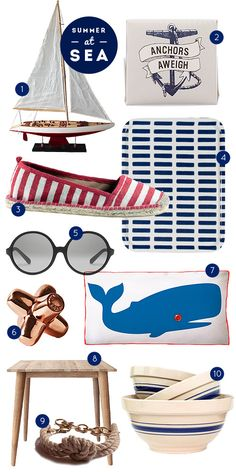Caught in our net: 10 Fab-ulous Products For Seafaring Summer Style! - DesignSponge Online