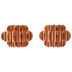 Fog en Morup Jo Hammerborg Sconces in Copper 1960 | From a unique collection of antique and modern wall lights and sconces at http://www.1stdibs.com/furniture/lighting/sconces-wall-lights/