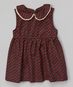Brown & Red Polka Dot Dress - Toddler & Girls