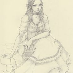 Original Pencil Drawing · JDarnell · Online Store Powered by Storenvy Character Inspiration, Character Art, Character Design, Colouring Pages, Adult Coloring Pages, Art Drawings Sketches, Pencil Drawings, Anime Sketch, Colorful Drawings