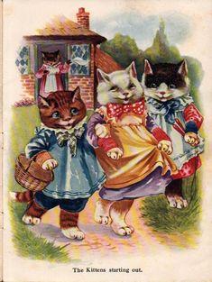 A.E. Kennedy - 3 little kittens vintage
