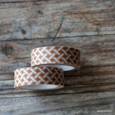 Washi Tape - Brown Woven Pattern Masking Tape