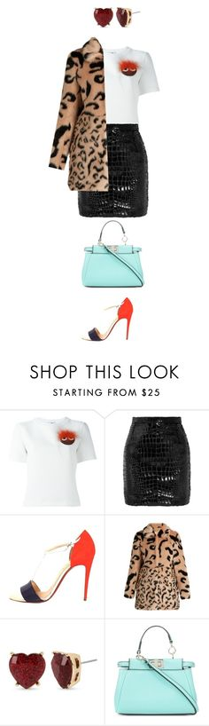 """""""Flare"""" by catmlnguyen on Polyvore featuring Fendi, Yves Saint Laurent, Christian Louboutin and Betsey Johnson"""