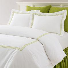 Trio Green Bedding design by Pine Cone Hill