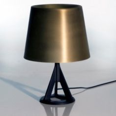 The Base Table Lamp is designed by Tom Dixon and made by Tom Dixon. With its industrial aesthetic cast iron base, minimal metallic shade and classical proportions, Base remains an interior design staple – so popular, that we've added a highly-poli. Luxury Table Lamps, Brass Table Lamps, Lamp Table, Interior Lighting, Lighting Design, Lounge, Tom Dixon Lighting, Contemporary Table Lamps, Tripod Lamp