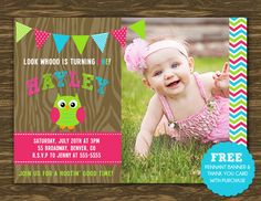 Girl Owl Birthday Invitation  Printable  FREE by SweetGumdrop, $14.50