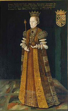 Margaret Leijonhufvud, Queen of Sweden was born on January 1, 1516 (portrait by Johan Baptista van Uther) Margaret Leijonhufvud (née Margareta Eriksdotter; 1 January 1516 in Ekeberg Castle, Närke – 26 August 1551 in Tynnelsö Castle, Södermanland) was Queen of Sweden from 1536 to 1551 as the wife of King Gustav I. She belonged to the early Leijonhufvud clan of Swedish nobility (the name meaning Lion's Head).