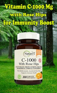 Vitamin C-1000 Mg with Rose Hips for immunity boost - Health and Wellness supplement