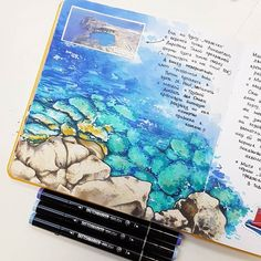 #visualjournal #visualdiary #travelbook #travelsketch #travelsketchbook #traveljournal #sketchbook #artbook #copicmarkers #copic #sketchmarkers #markers #sketchmarkerclub #ilovesketchmarker #tsusketch #greece #rhodes #rodos #sea #lindos