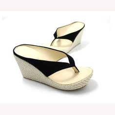 11f7148e92 US $18.38 |New Women Sandals Slippers Flip Flops Fashion Platform Sandals  Wedges Slippers High Heels Beach Slippers plus Size 34 41-in Women's  Sandals from ...