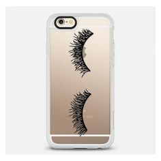 Casetify Eyelash Wink Iphone Case Black By ($40) ❤ liked on Polyvore featuring accessories, tech accessories, electronics accessories, iphone cover case, apple iphone cases, iphone sleeve case and iphone cases