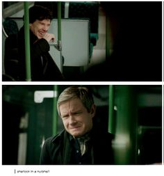 *SPOILERS* Sherlock in a nutshell. Oh I felt so bad for John in this scene! Sherlock's a butt! But I think it's because he really is John's friend. And maybe because he wanted to be forgiven.