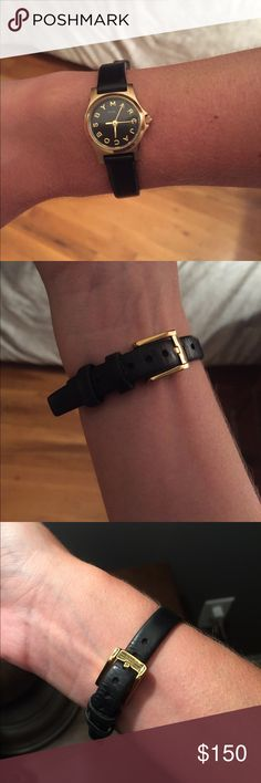 Marc by Marc Jacobs mini black and gold watch Marc by Marc Jacobs mini black and gold watch - looking to trade Tory burch watch ⌚️ Marc By Marc Jacobs Accessories Watches