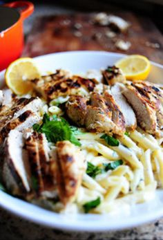 Grilled chicken with Lemon Basil Pasta - Awww so nice, feeling the ...