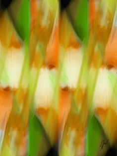 The View Abstract in Green, Gold, and Orange Art Print Choose original art! #art #home #abstract #design #print #style #office #decor #homedecor