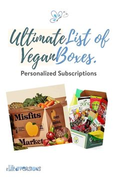 Get your vegan food subscription box delivered to your door every month! Choose from a large list of hand picked suppliers who all offer awesome VEGAN snacks, meal delivery, fresh produce or ingredient boxes, beauty products, vegan beverages and more. You don't need to go out shopping to find these items and read labels to make sure your products are vegan compliant. There is a special box, just for you. Treat yourself today, or give a subscription as a gift. gift#GreenProducts #WholeFood Vegan Snacks, Vegan Meals, Vegan Food, Vegan Recipes, Types Of Vegans, Subscription Boxes, Vegan Lifestyle, Whole Food Recipes, Beauty Products