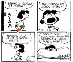 Personne ne me parle! Lucy Van Pelt, Peanuts Quotes, Snoopy Quotes, Snoopy Comics, Quotation Marks, Peanuts Snoopy, Calvin And Hobbes, More Than Words, Words Quotes