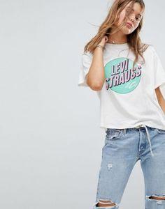 Levi's® GRAPHIC TEE T shirt imprimé copperwhite