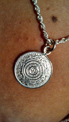 """New necklace in sterling silver, from the Yucatan in Mexico ~ One of the Mayan Calendar's. I LoVe jewelry that is symbolic, and I'm highly intrigued with the Mayan culture. """"Complex simplicity."""""""