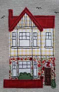 Bespoke freestyle machine embroidery house picture - new home gift