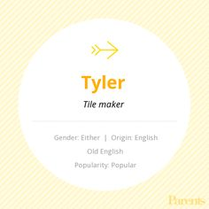 Baby Name: Tyler