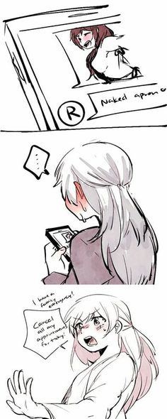 White Rose Comic: Sexting, Ruby x Weiss