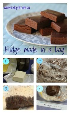 Fudge in a bag! Yes, really, easy for the kids without dirty hands