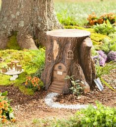 Gardens Discover Main image for Whimsical Fairy Garden Tree Stump Stool Fairy Tree Houses Fairy Garden Houses Gnome Garden Garden Trees Garden Art Fairy Village Fairy Garden Doors Fairies Garden Fairy Gardening Fairy Tree Houses, Fairy Garden Houses, Gnome Garden, Garden Trees, Fairies Garden, Fairy Village, Fairy Gardening, Gnome Tree Stump House, Fairy Garden Doors