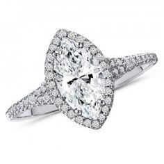 1.25 Carat Marquise Cut Diamond Engagement Ring