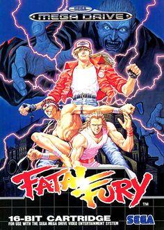 Fatal Fury: King of Fighters - SNK - Megadrive - 1993 90s Video Games, Vintage Video Games, Classic Video Games, Vintage Games, Video Game Art, Retro Games, Mega Drive Games, Sega Mega Drive, Neo Geo
