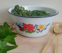 Ensaladera de metal enlozado Planter Pots, Mesas, Plant Pots