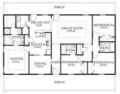 House plans on pinterest ranch house plans house plans for Southfork ranch house plans