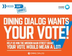 Vote for our sister company Dinging Dialog to win the Chase Mission Street Greant to help them grow their business! http://shar.es/EUej6
