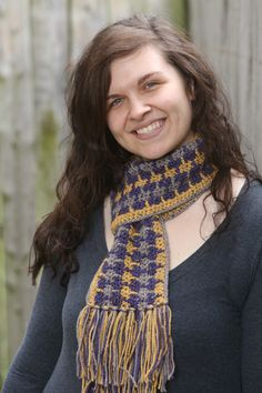 City Tweed Scarf - The City Tweed Scarf uses three colors to create a go-to accessory that works for both men and women. The pattern is easily memorized so this can be a great project for crocheting in the car or while watching a movie on the couch. Two color options are shown and explained here, proving that this pattern works with a variety of color choices. From the February 2016 issue of I Like Crochet
