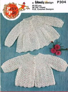 Vintage jarol 924 baby crochet pattern for a shawl jacket and peter pan 304 two designs baby matinee coats vintage crochet pattern pdf instant download on etsy dt1010fo