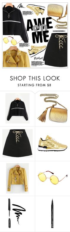 """Romwe Contest"" by teoecar ❤ liked on Polyvore featuring Gucci, Saucony, Bobbi Brown Cosmetics and NYX"