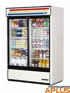 "#refrigerators #True 54"" Two Sliding Glass Door RefrigeratorModel: GDM-47This True GDM-47 54"" two glass door merchandiser refrigerator comes with 8 adjustable vi..."