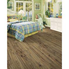 Shop allen + roth 4.96-in W x 4.23-ft L Driftwood Oak Handscraped Laminate Wood Planks at Lowes.com
