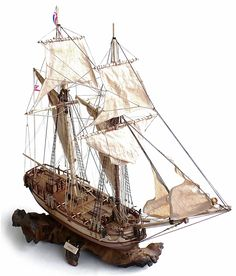 """Here are some images of Constructo's 1/32 scale HMS Halifax 1768.   From Wikipedia""""  HMS Halifax  was a schooner  built fo..."""