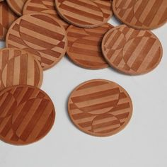 Leather Coasters by Commune, $30 for six from communedesign.com