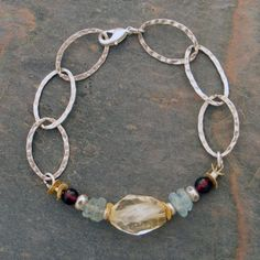 (http://www.elizabethplumbjewelry.com/organic-citrine-and-sterling-links-bracelets/)