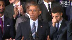 美國總統歐巴馬的幽默演講,2014-15 NBA冠軍,金州勇士 (中字)